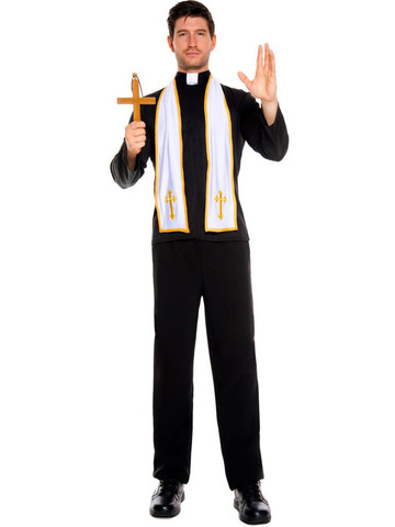 Mens Religious Priest Costume
