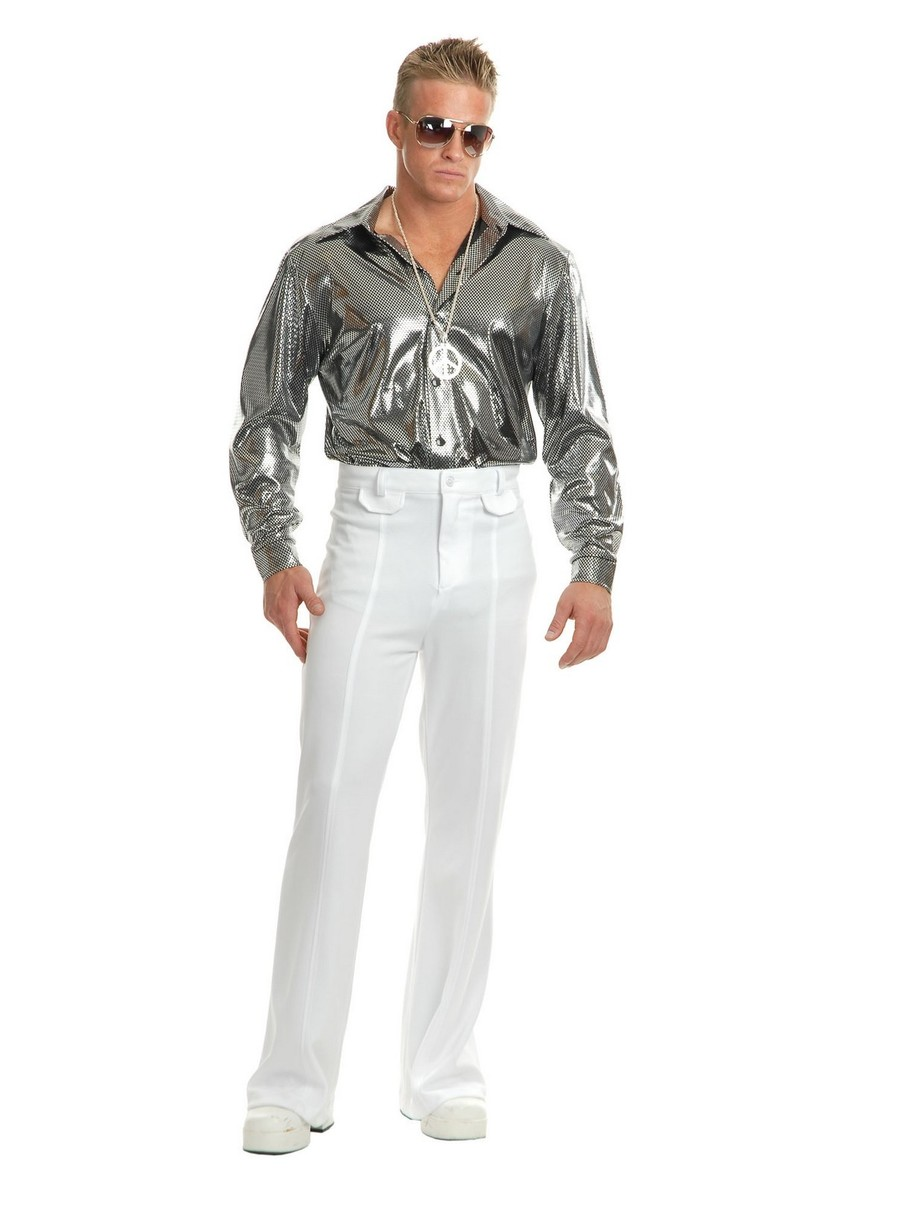 View larger image of Silver Nail Head Disco Shirt for Men