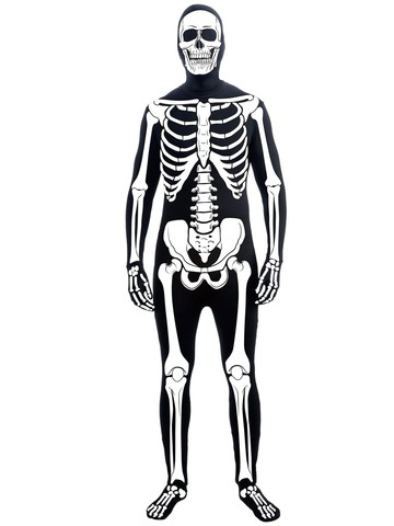 Mens Skeleton Man Skin Suit Adult Costume