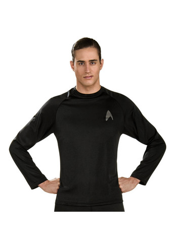 Mens Star Trek Movie Shirt Black Costume