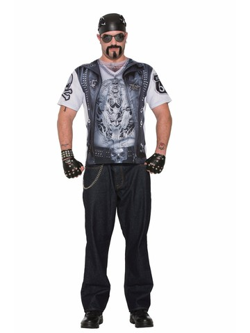 Men's Biker Printed Costume T-Shirt