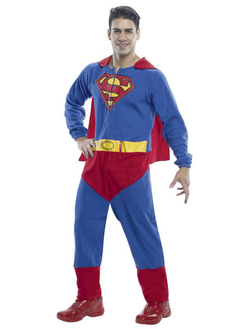 Mens Superman Adult Onesie