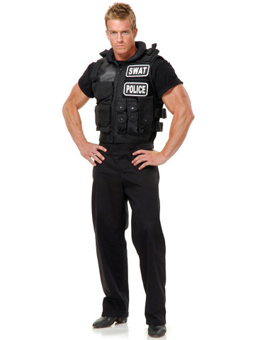 Mens SWAT Team Vest Costume