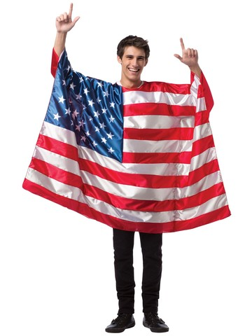Mens USA Flag Tunic Costume