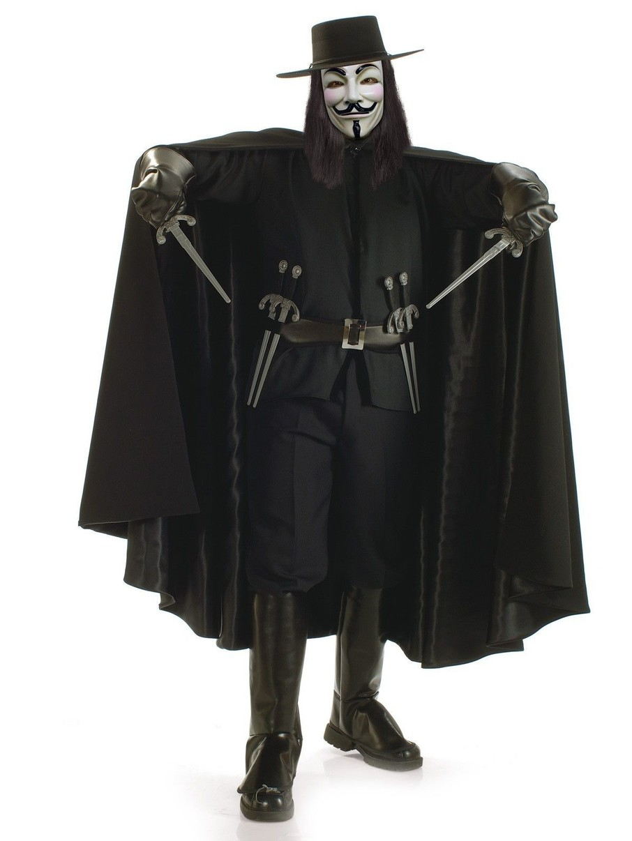 View larger image of Mens V for Vendetta Grand Heritage Costume