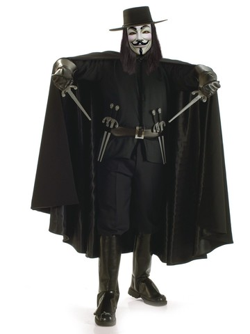 Mens V for Vendetta Grand Heritage Costume