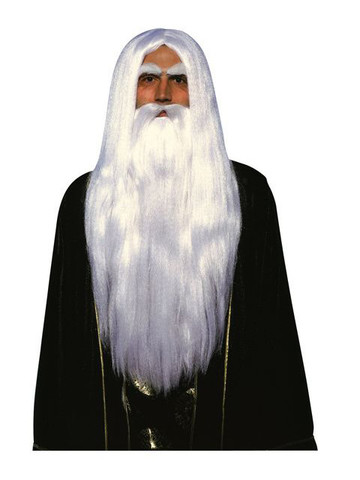 Merlin Wizard Wig and Beard Adult