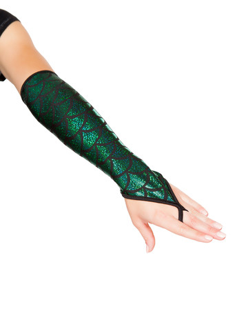 Mermaid Fingerless Elbow Length Gloves