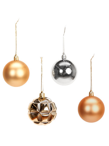 Metallic Ornament Assortment (48)