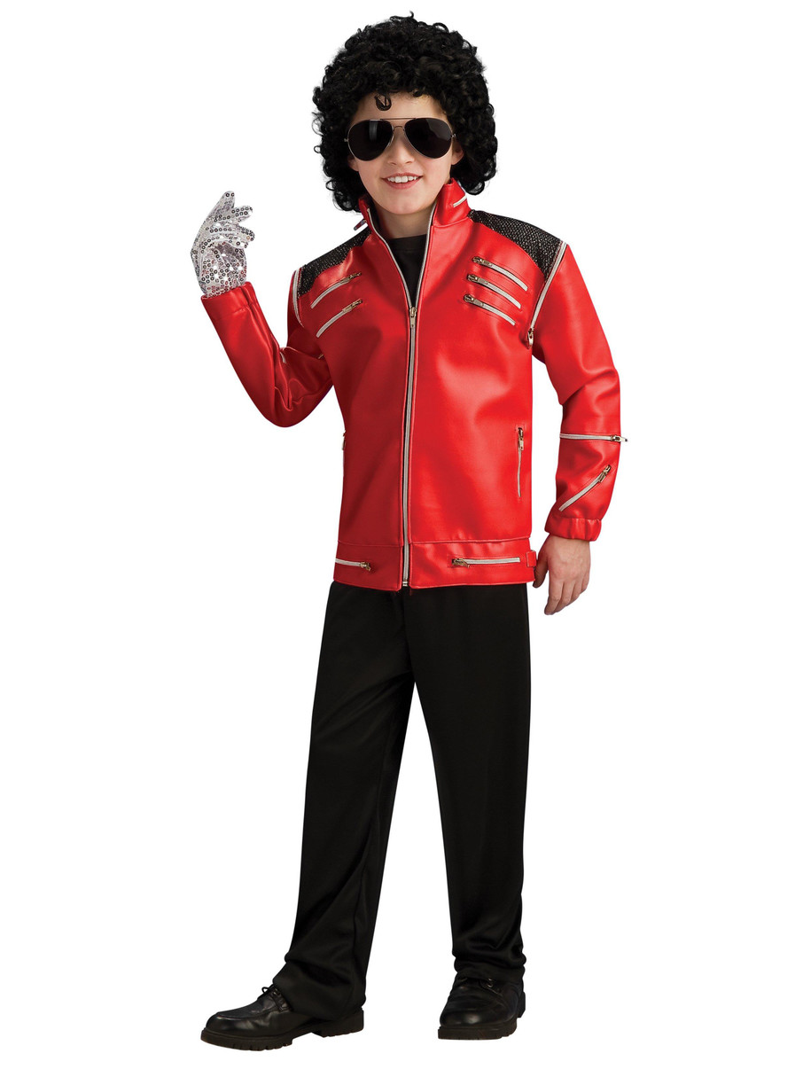 View larger image of Michael Jackson Deluxe Red Zipper Jacket Child