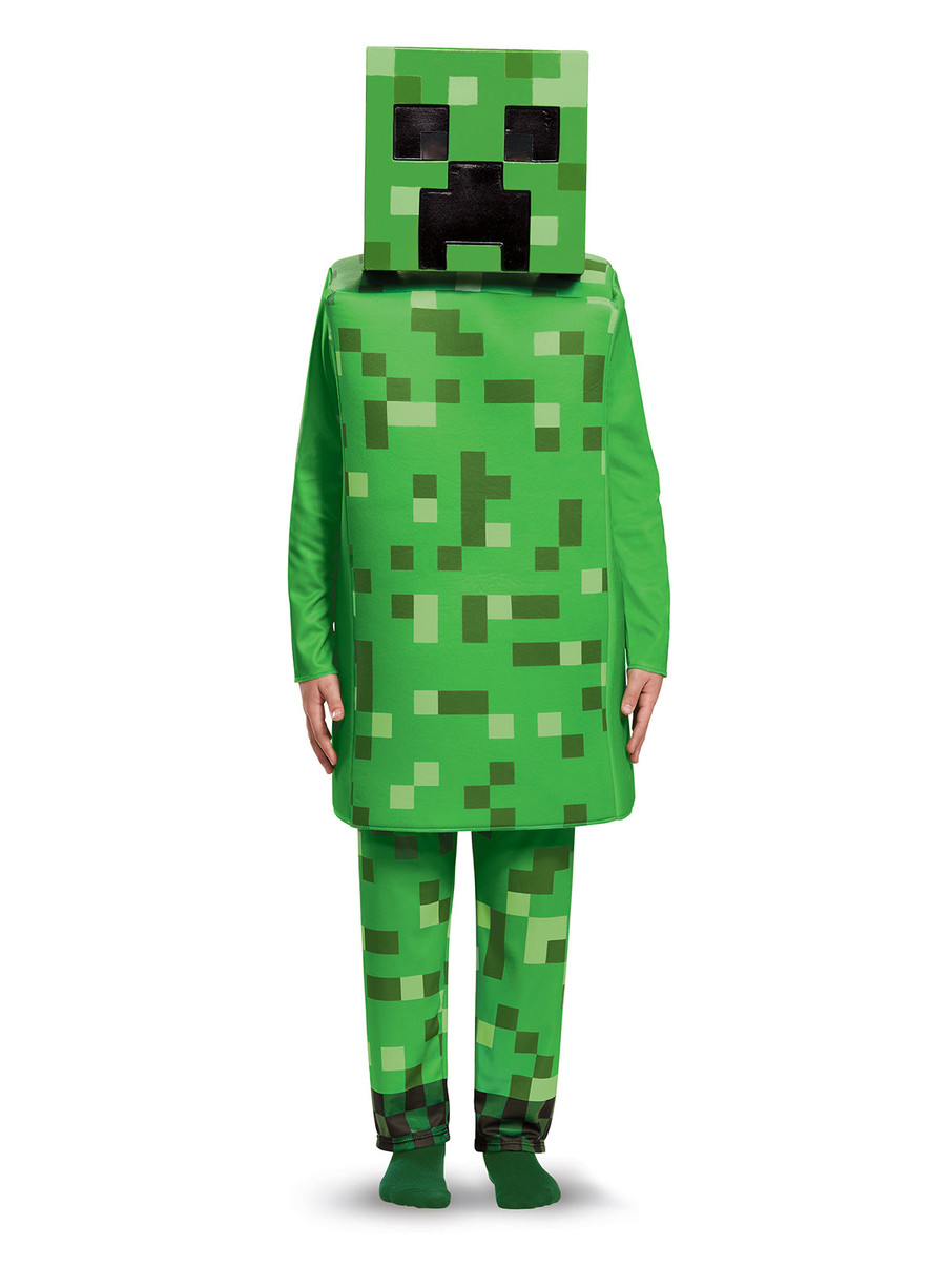 View larger image of Kids Minecraft Creeper Costume Deluxe