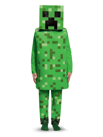Kids Minecraft Creeper Costume Deluxe