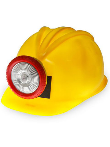 Miner Hard Hat With Attached Light