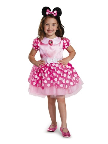 Minnie Mouse Costume for Toddlers in Pink