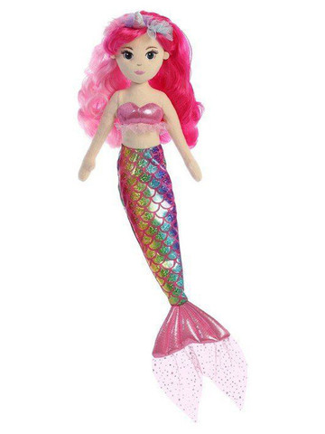 Minnie Rainbow Unicorn Mermaid Sparkles Plush