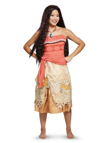 Deluxe Disney Moana Costume for Adults