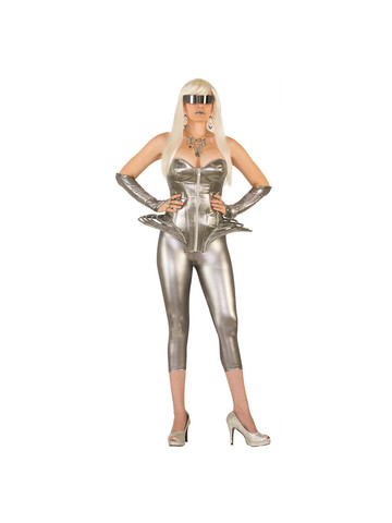 Adult Molten Metal Corset Costume -