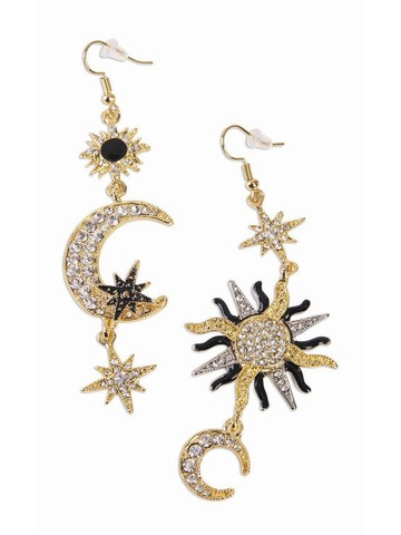 Celestial Sun and Moon Earrings