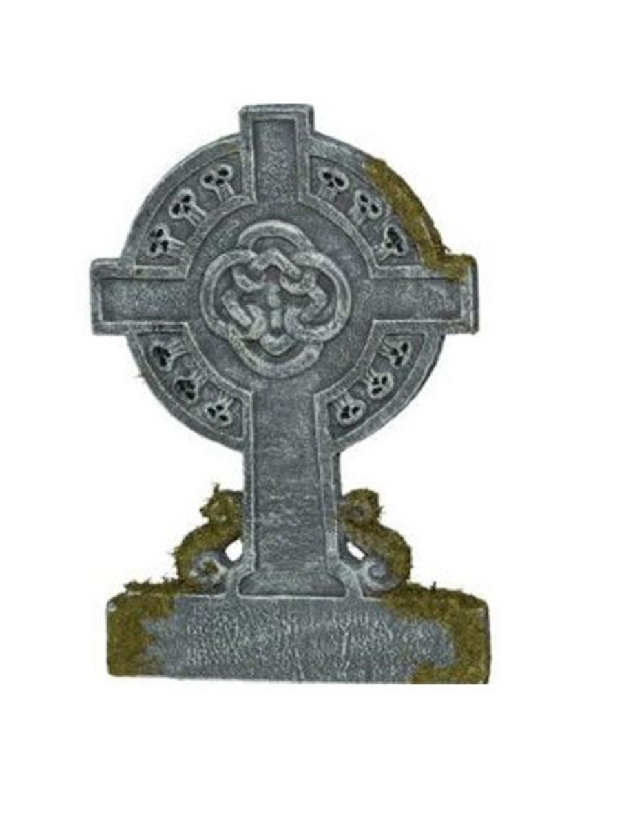 View larger image of Mossy Celtic Cross Tombstone