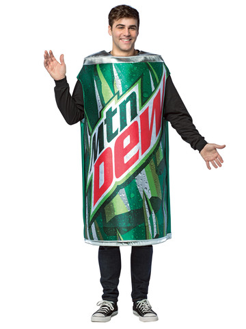 Mountain Dew Can Adult Costume