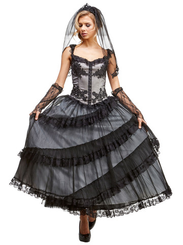 Adult Mourning Bride Costume