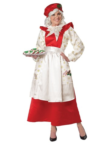 Mrs. Claus Pinafore Dress with Apron Womens Costume