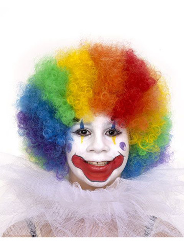 Child's Rainbow Clown Wig