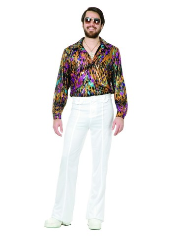 Multi Flame Disco Shirt for Men