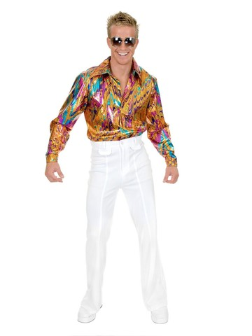 Multi Glitter Disco Shirt for Men