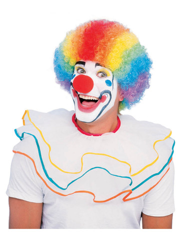 Multicolor Clown Wig Costume Accessory