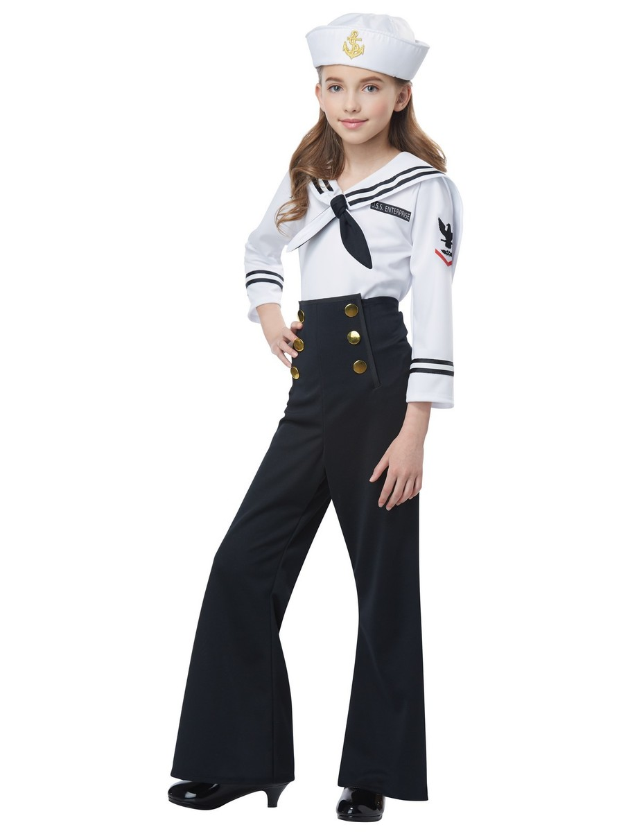 View larger image of Navy / Sailor Costume for Girls