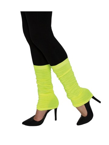 Adult Neon Yellow Leg Warmers
