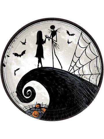 "Nightmare Before Christmas 9"" Round Plate (8)"