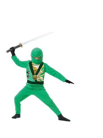 Jade Elite Ninja Avenger Child Costume