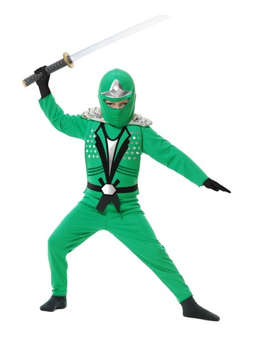 Child's Jade Ninja Avenger Costume w/Armor