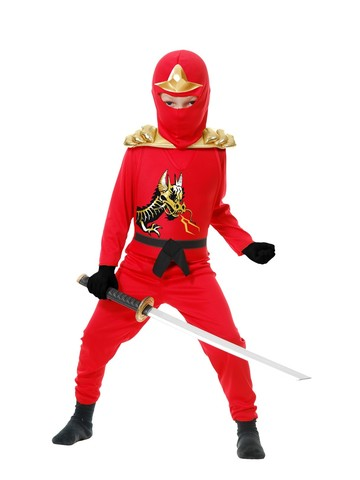 Child's Red Ninja Avenger Costume w/Armor