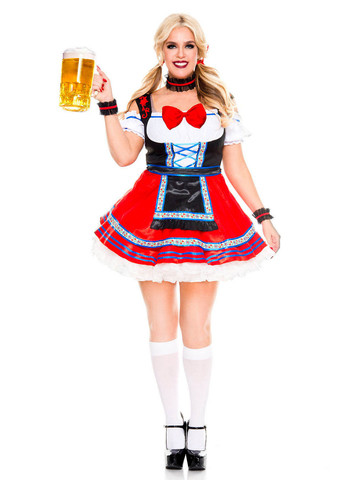 Oktoberfest Beer Babe - Womens Sexy Plus Size Costume