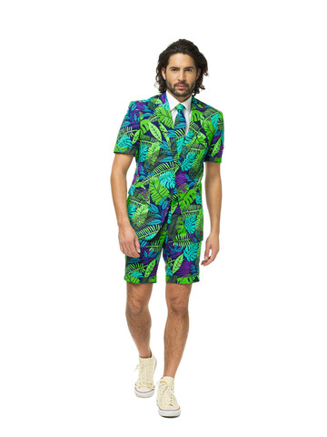 Men's Summer Multicolor Jungle OppoSuit Set