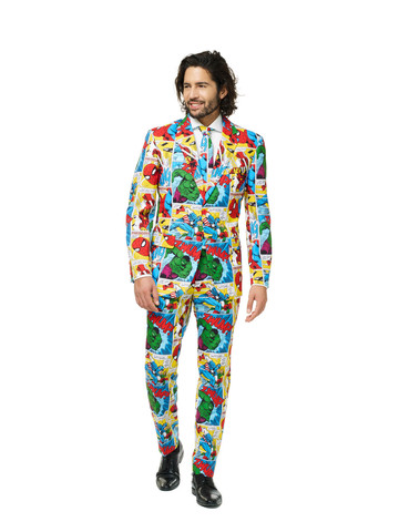 Men's Retro Marvel Comic OppoSuit Set