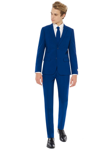 Teen Boy's Royal Navy Solid OppoSuits Set