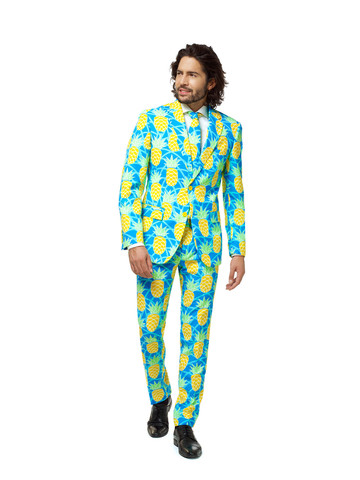 Men's Pineapple Print OppoSuit Set