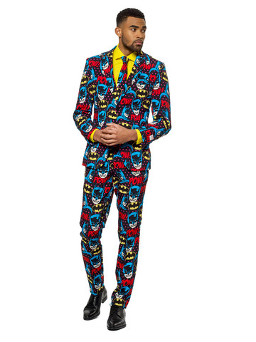 OppoSuits The Dark Knight Mens Suit and Tie Set