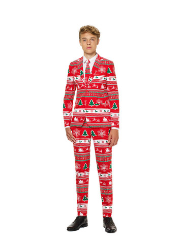 OppoSuits Winter Wonderland Teen Boys Suit and Tie Set