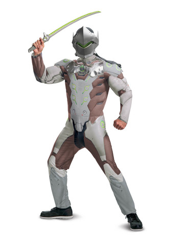 Overwatch: Genji Mens Muscle Costume