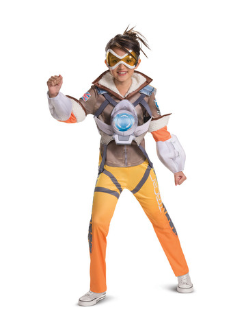 Overwatch: Tracer Deluxe Girls Costume