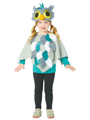 Owl Poncho Costume for Toddlers