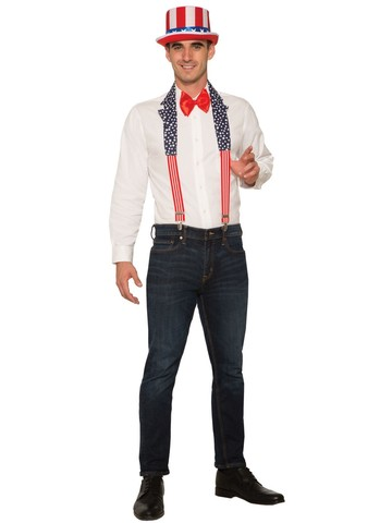 Patriotic Collar and Suspenders for Men