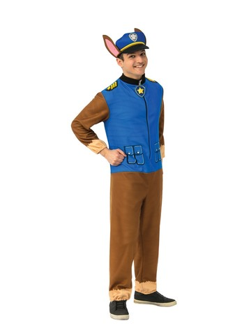 Adult Chase Paw Patrol Jumpsuit Costume