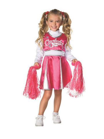 Child Pink and White Cheerleader Costume