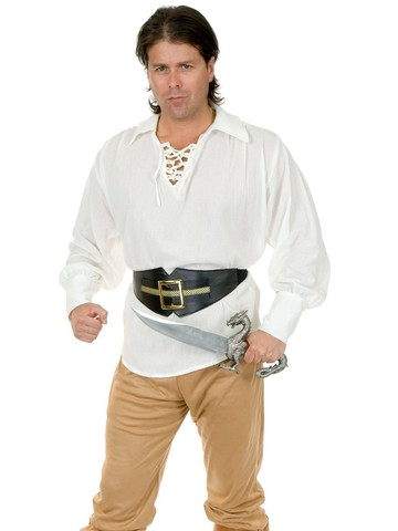 Unisex Gauze Pirate Shirt for Adults